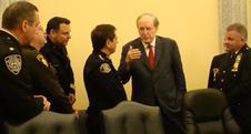 Chairman Rockefeller meets with uniformed public safety officials.